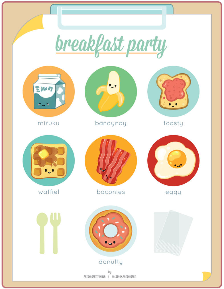 Breakfast Party by chimpansy