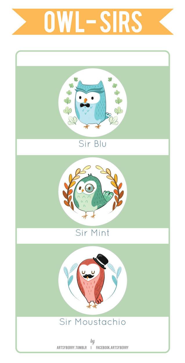 Owl-Sirs by chimpansy