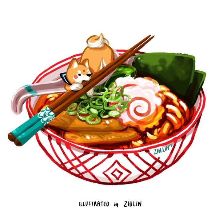 Doggu Kitsune Udon by limzhilin