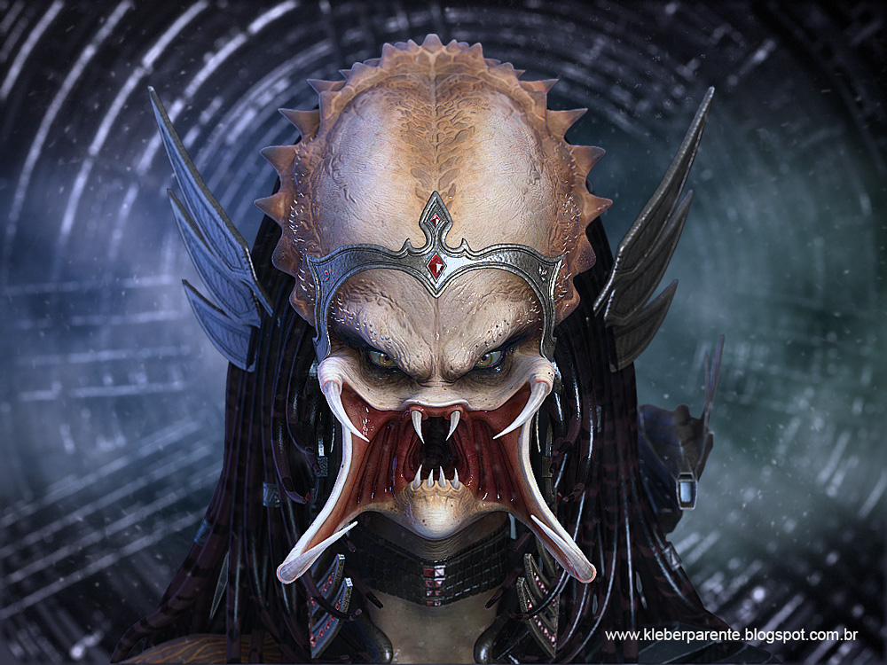 female predator face by kleberparente on DeviantArt