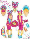 .:Fursona Reference:. Tipsy Candypaws UPD8!