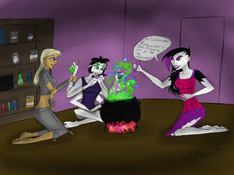 Potions class study group by Invaderskull1995