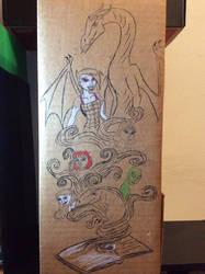 Recycled Shelf mural (wip) by Invaderskull1995