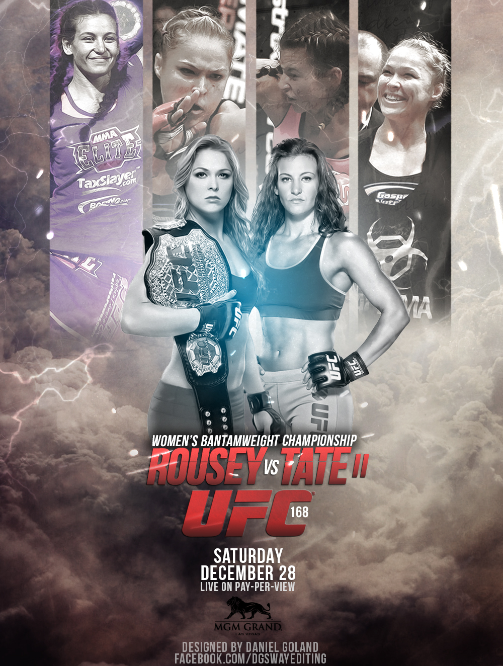 Ufc 168 Fight Poster UFC 168 POSTER ROUSEY ...