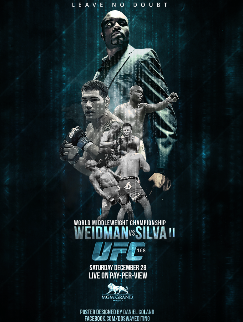 Ufc 168 Fight Poster UFC 168 Poster 2 by DG...