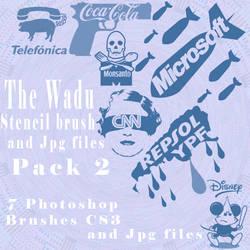 stencil brushes pack2 por Wadu by argentinos