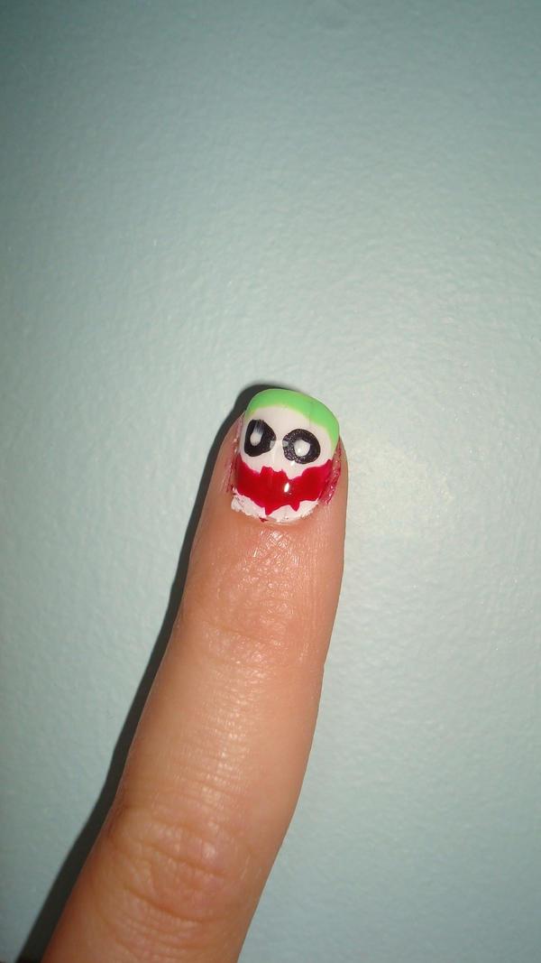 Why So Serious nail art