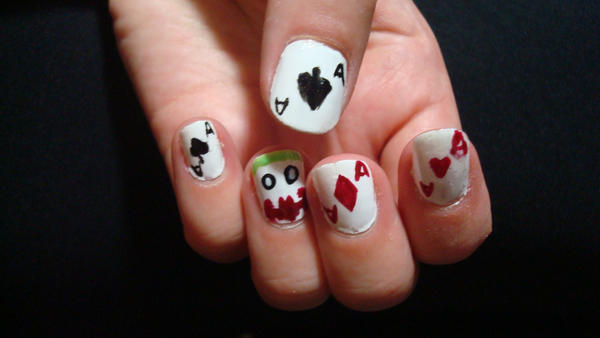 Joker And His Aces Nail Art By Relicraider On Deviantart