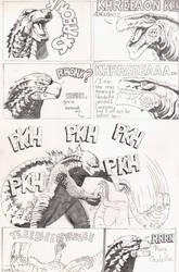 Godzilla 2014 vs Godzilla 1998 by AmirKameron