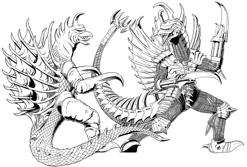 gigan free coloring pages