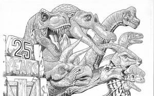 Jurassic Park 25 years by AmirKameron