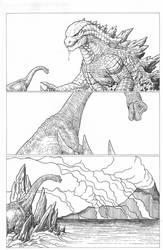 Saved by Godzilla by AmirKameron