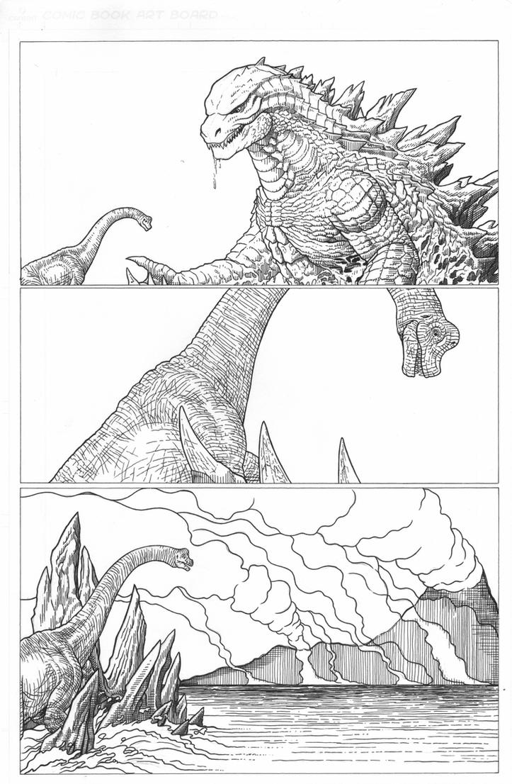 Saved by Godzilla by AmirKameron