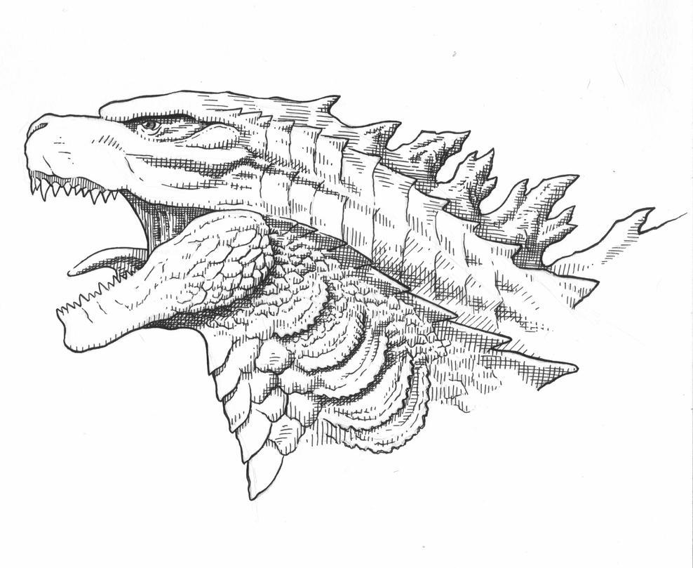 Godzilla 2014 head by AmirKameron