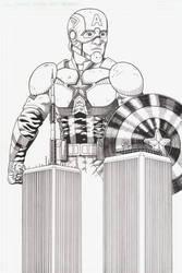 Captain America/Twin towers #2 by AmirKameron