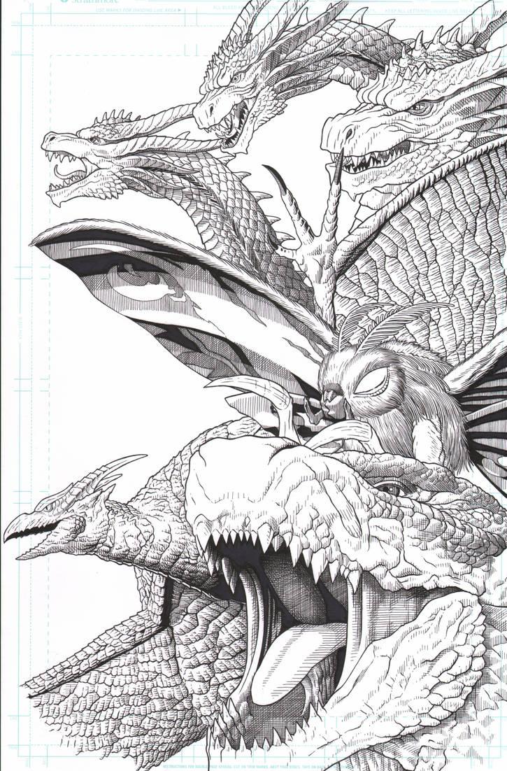 Godzilla King Of The Monsters by AmirKameron