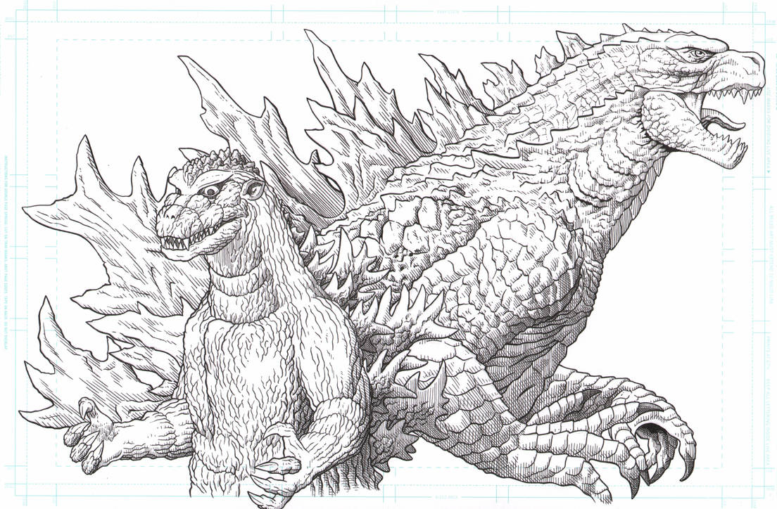 Godzilla 1954 and Godzilla 2019 by AmirKameron