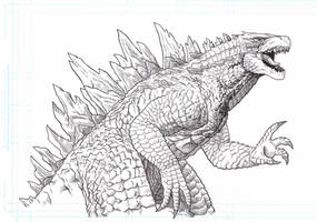 Godzilla 2014 5th anniversary tribute.
