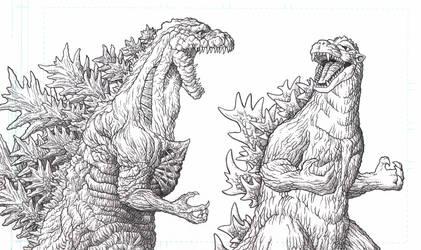 Shin Godzilla vs Godzilla 1954