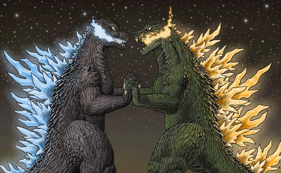 Godzilla 2000 vs Godzilla 2002