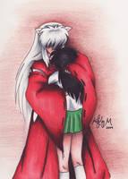 Lovers embrace by hesxmyxinu