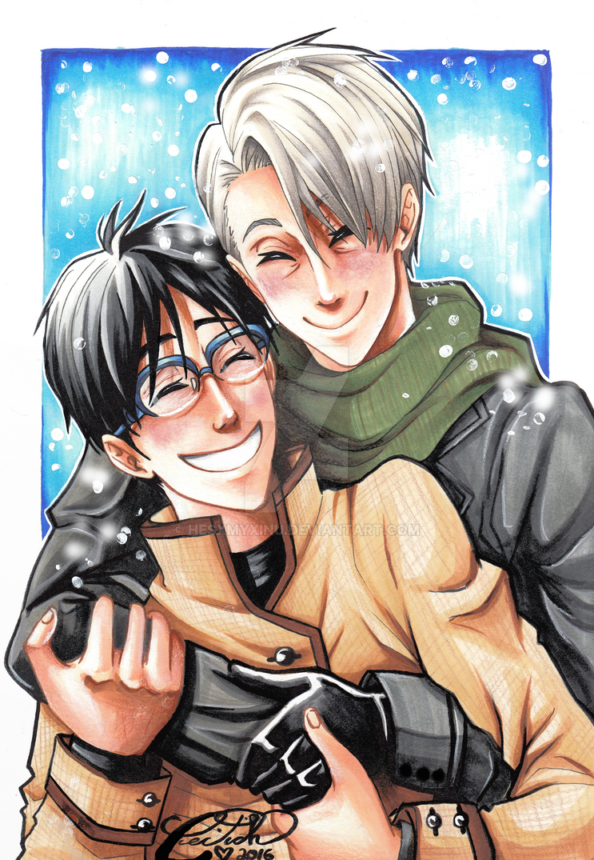 Snowy Hugs by hesxmyxinu