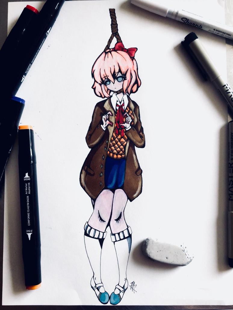 Sayori (creepy edition)  by CarboneMartina333