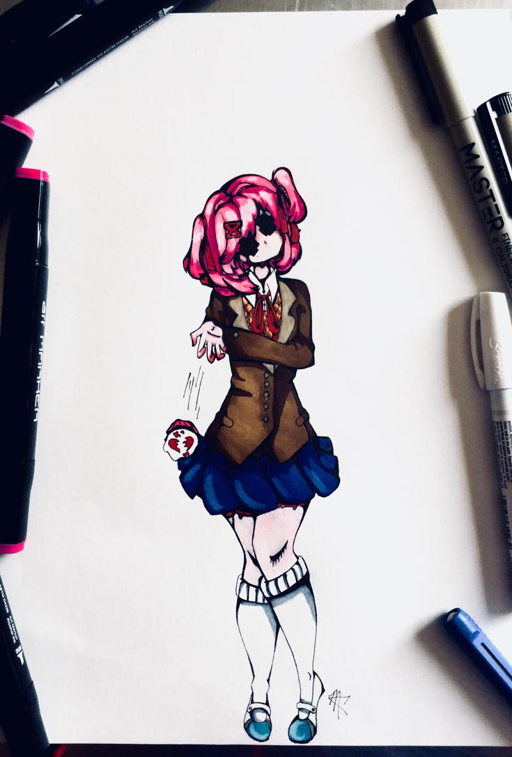 Natsuki (creepy edition) by CarboneMartina333
