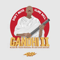 Gandhi II by coffeestained