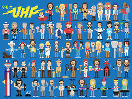 UHF 8Bit Characters by coffeestained