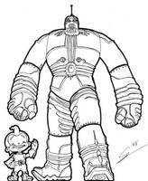 The Big Guy and Rusty by birdboy100