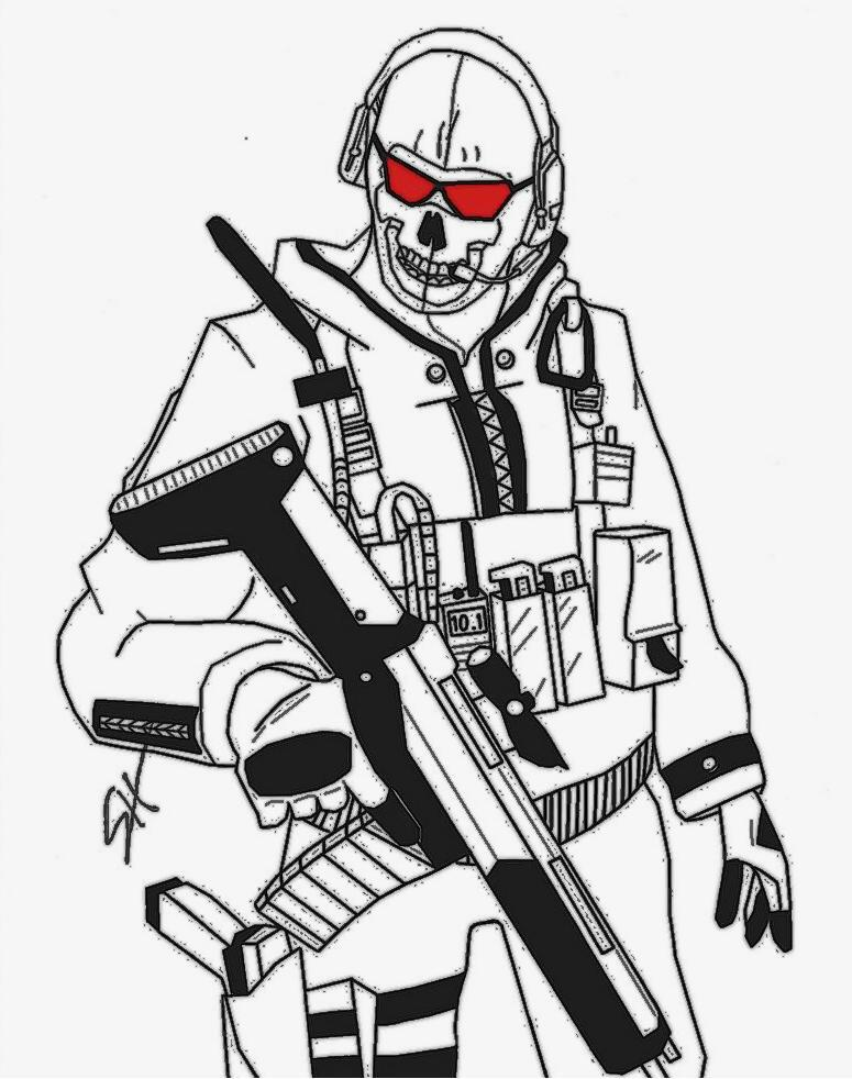 Call Of Duty - Free Colouring Pages