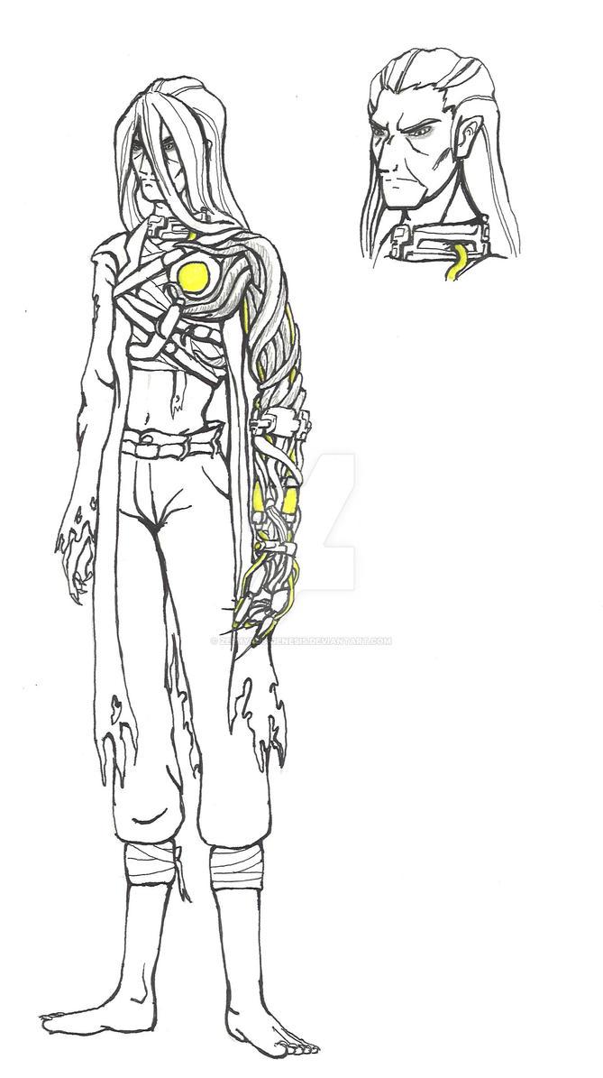 Van Kleiss Re-Design Lineart by Zephyrus-Genesis