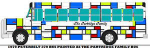 1979 Peterbilt 379 Partridge Family Bus.