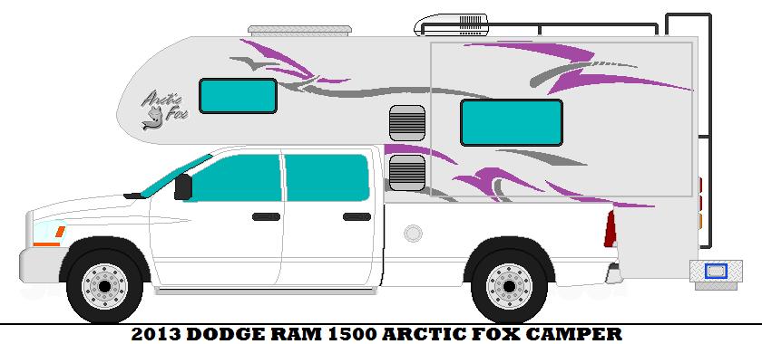 2013 Dodge Ram 1500 Arctic Fox Camper by mcspyder1 on DeviantArt