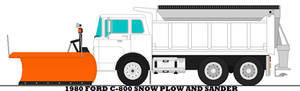 1980 Ford C-800 Snow Plow And Sander
