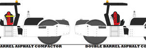 Double Barrel Asphalt Compactor