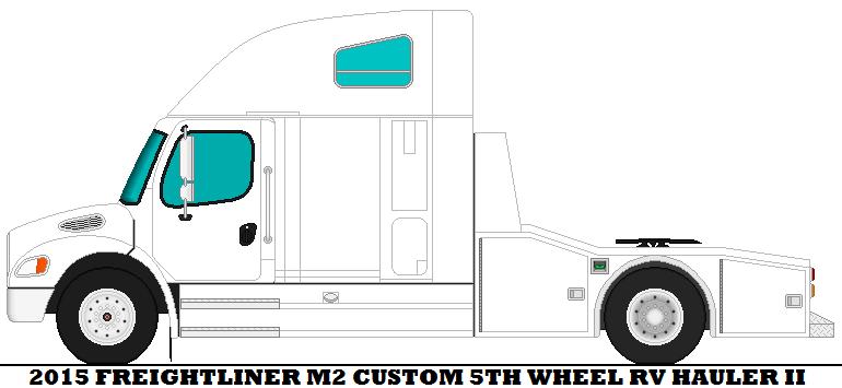 2015 Freightliner M2 Custom 5th Wheel RV Hauler II by mcspyder1 on