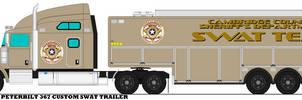 2016 CCSD Peterbilt 367 Custom Swat Trailer