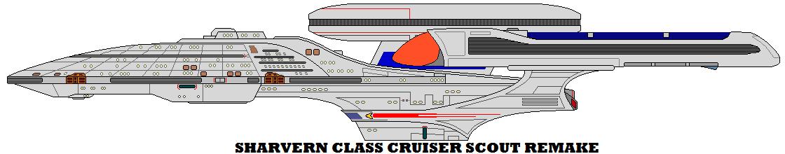 Sharvern Class Cruiser Scout Remake by mcspyder1