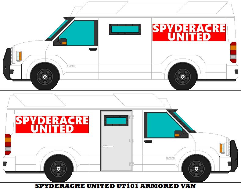 Spyderacre United UT101 Armored Van by mcspyder1
