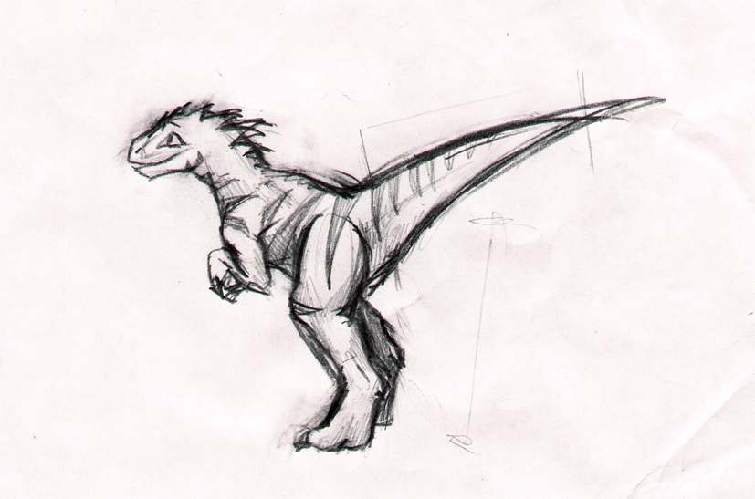 Raptor costume sketch by jo-shadow