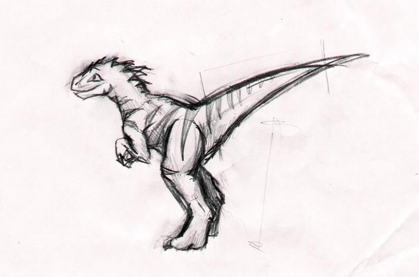 Raptor costume sketch by jo-shadow