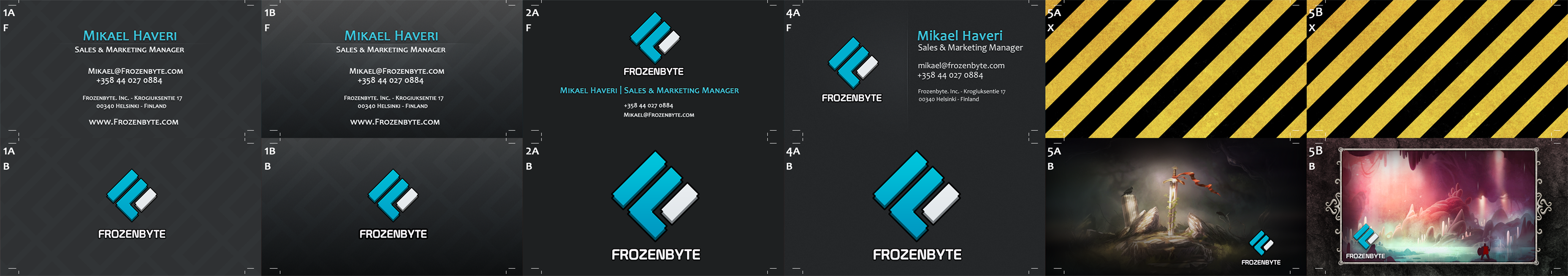 Frozenbyte Business-cards - Initial Mockups by jo-shadow