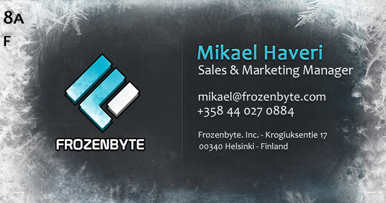 Frozenbyte Business-cards - Special Mockup by jo-shadow