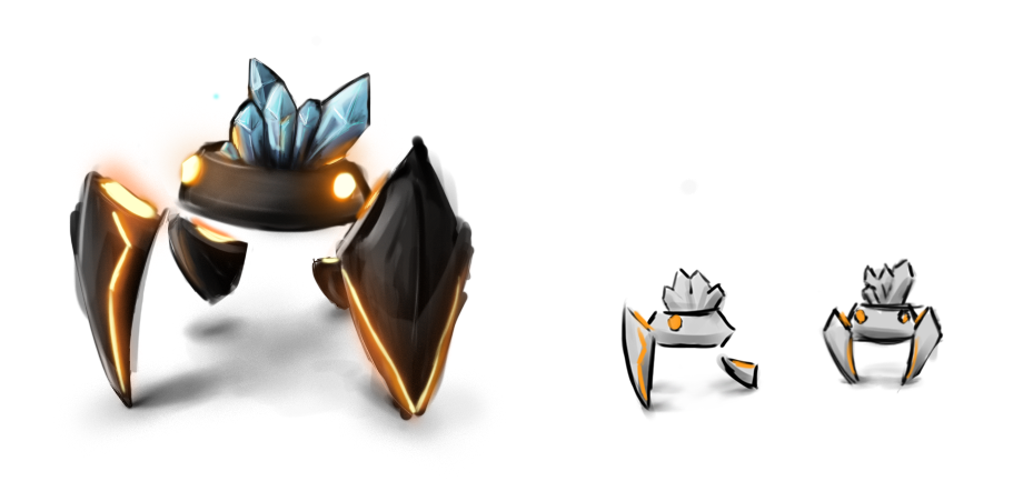 FLAT Concept Art - Crab (7dfps 2012) by jo-shadow