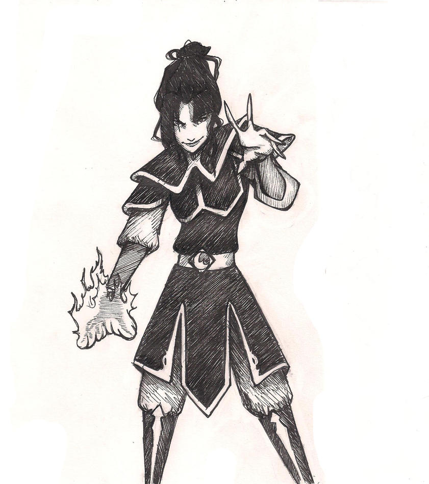Fire Lord Azula uncolored by whutnot