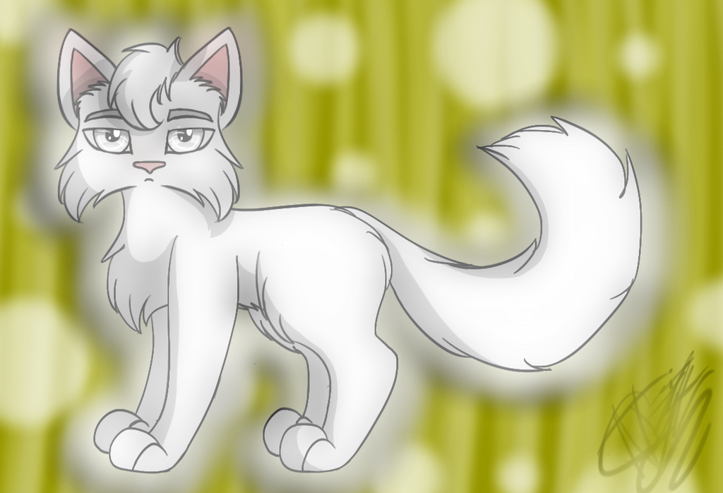 White Cat by Akeela-Quill