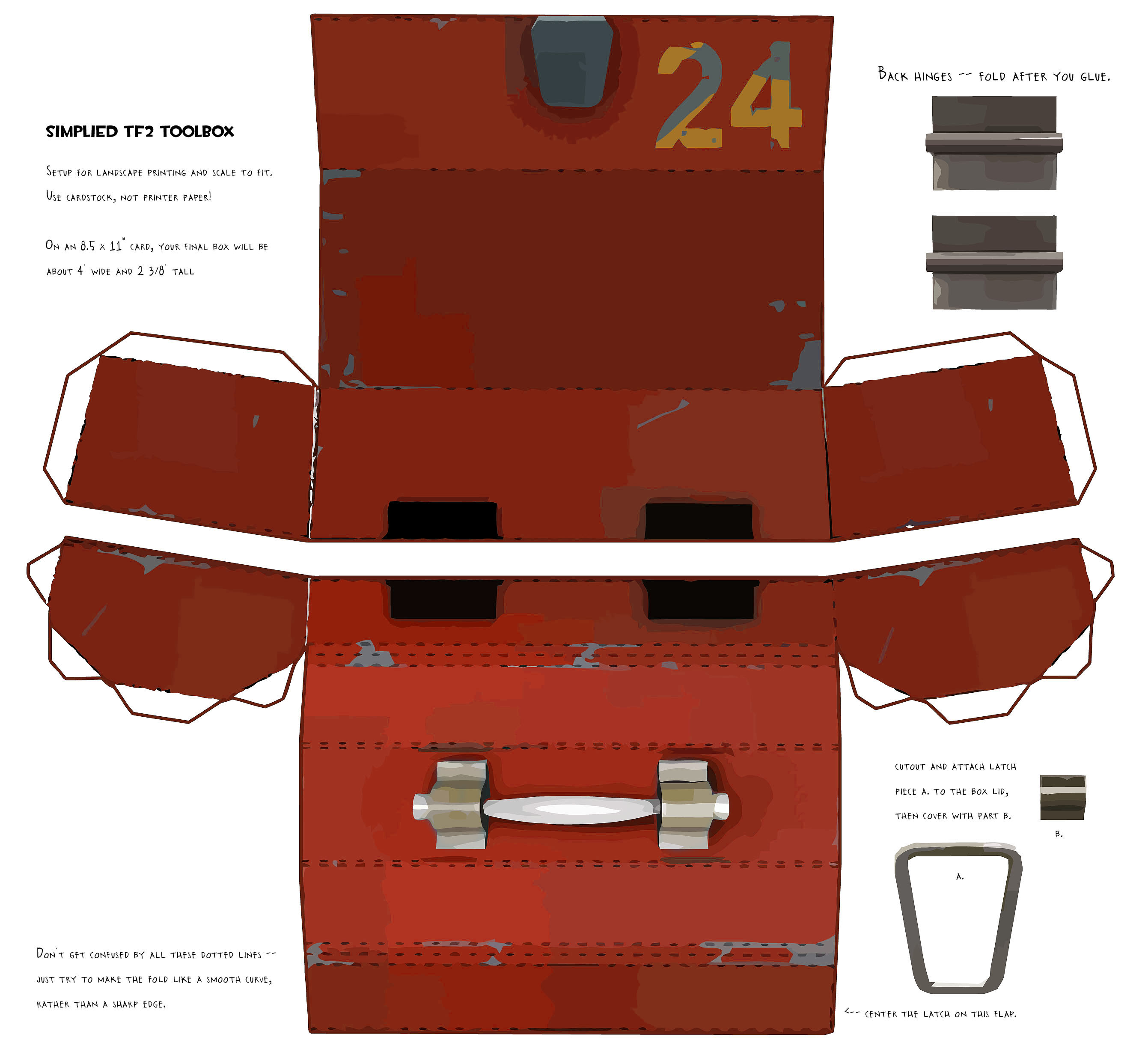 Tf2 papercraft red toolbox by propmedic on deviantart 3d tool free