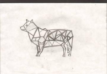 Cubist wolf by Julia1742
